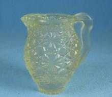 Vintage BUTTON & DAISY Child Toy Glass PITCHER
