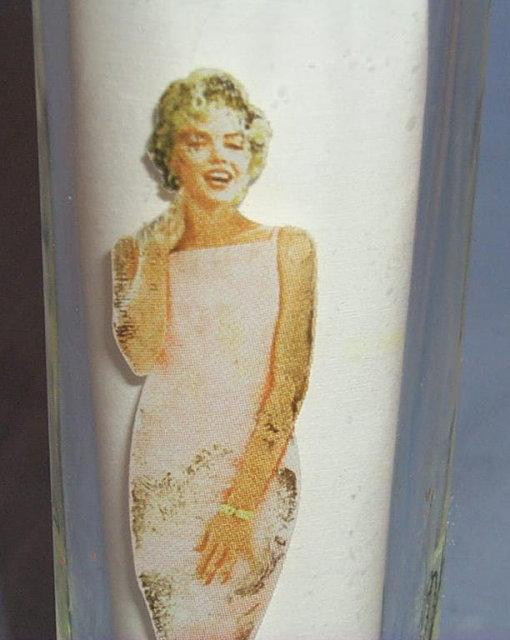 Pair of  MARILYN MONROE Glass Shot Glasses