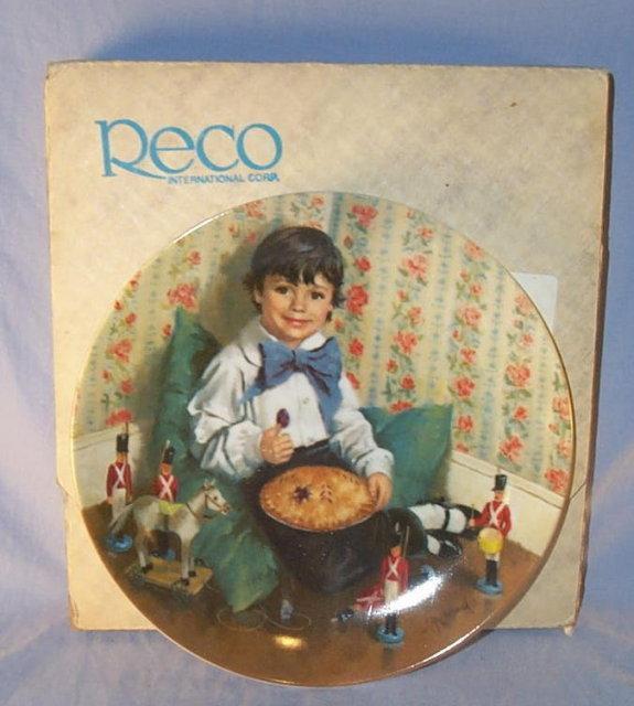 LITTLE JACK HORNER   Collectible Porcelain Plate