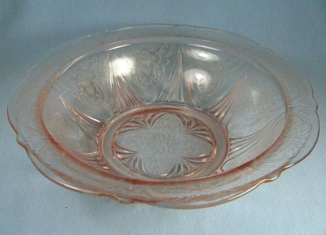 old vintage ROYAL LACE  Pink Depression Glass   Large Serving Bowl