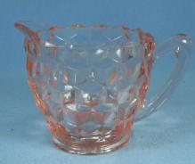 old vintage Fostoria AMERICAN  Pink Depression Glass Creamer Pitcher