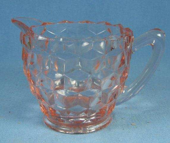 old vintage Fostoria AMERICAN  Pink Depression Glass Creamer Pitcher