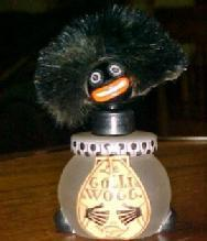 Golli Golliwogg VIGNY Perfume Bottle - Glass