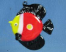 Hand Blown  Glass FISH Ornament or Sun Catcher