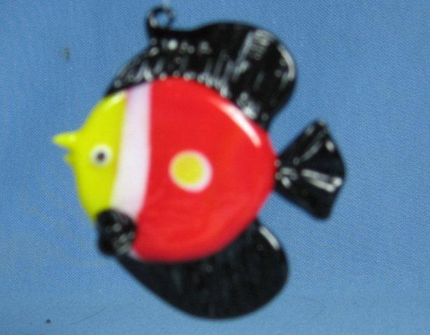 Hand Blown  Glass FISH Ornament or Sun Catcher