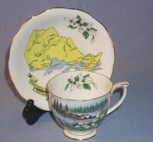 Queen Anne China ONTARIO Advertising Porcelain Cup & Saucer Set