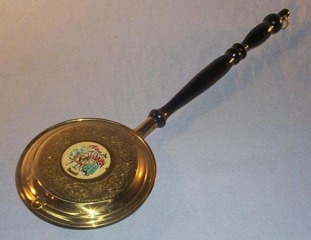 Brass WALES Handled  Ashtray - Tobacciana