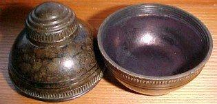 Gutta-percha Travel Inkwell - Collectible