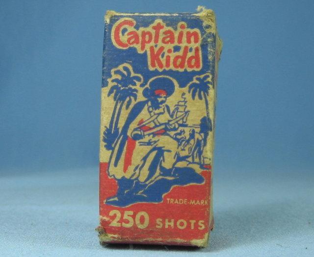 CAPTAIN KID -  National Repeating Paper Caps in Original Box - toy
