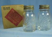 Salesman Sample MASON BALL Glass Canning Bottle/Jars in Original Box
