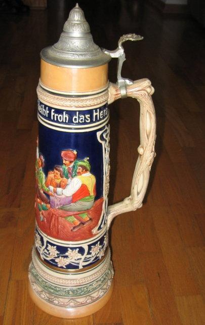 German Master STEIN - Simon Peter Gerz - Antique Stoneware pottery