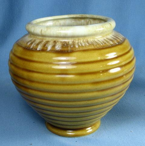 Hull Art Pottery RINGED Urn  Vase