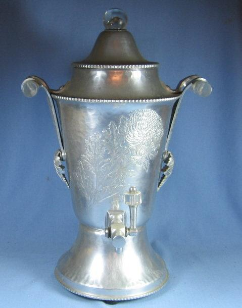 Continental Silver Electric COFFEE MAKER Percolator SERVER - Vintage Aluminum metalware