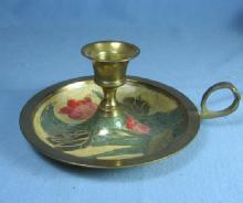 Candlestick  Brass CHAMBER STICK Candle Holder - metalware