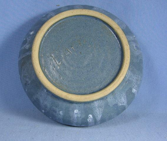 Hand Thrown ART POTTERY Decorated Bowl with Drip Glaze