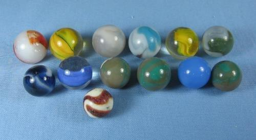 Group of Glass SHOOTER Marbles - Antique Toy