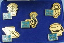 Walt Disney Classic Collectibles 5th ANNIVERSARY Pin Group 1992-1996 MIB