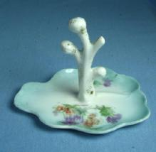 Antique RS Prussia German type Porcelain RING TREE Display