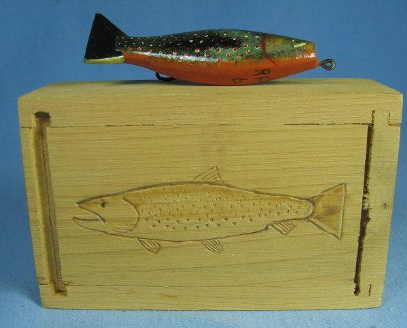 Ray Hansen - Cheboygan, MI  Hand Carved Wooden Decoy Fish Lure - sporting