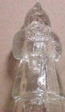 SANTA CLAUS  Candy Container - Glass