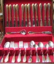 Royal Limited GOLD ACCENT Flatware Service for 12 with Storage Box