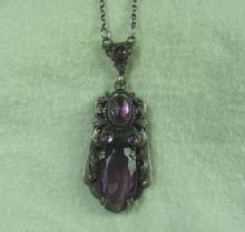 Jewelry  AMETHYST Necklace - Vintage Estate Jewelry