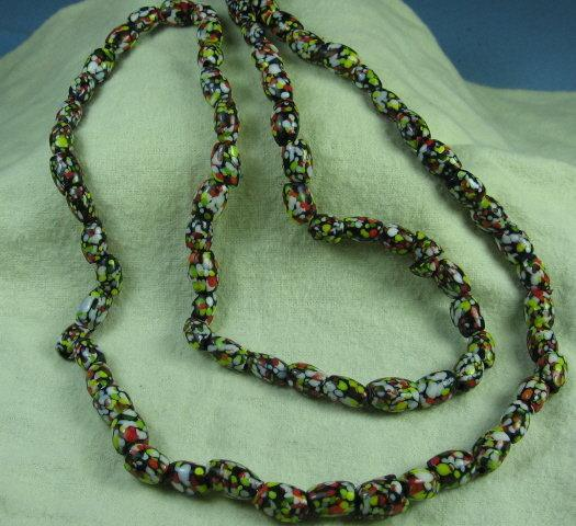 Necklace Jewelry Czech END OF DAY Art Glass Bead Necklace- Fine Antique Estate Jewelry