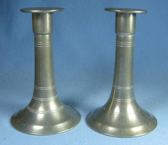 Berkeley Pewter CANDLE STICKS - metalware