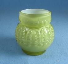 Northwood Art Glass LEAF UMBRELLA Toothpick Holder