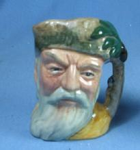 Royal Doulton Mini ROBINSON CRUSOE Miniature Toby Mug - Antique Porcelain