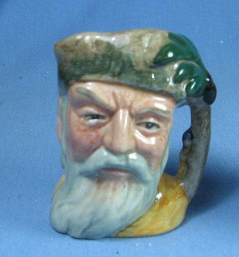 Royal Doulton Mini ROBINSON CRUSOE Miniature Toby Mug - Antique Porcelain