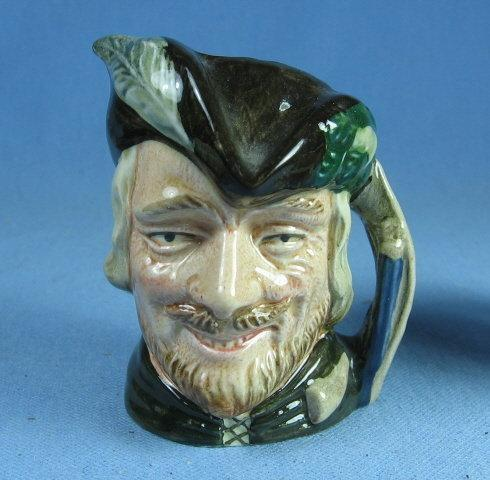 Royal Doulton Mini ROBIN HOOD Miniature Toby Mug - Antique Porcelain