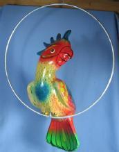 Pottery Tropical BIRD Figurine - Vintage Porcelain