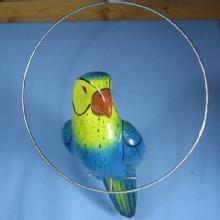HUGE Parrot Tropical BIRD Figurine - Vintage Pottery