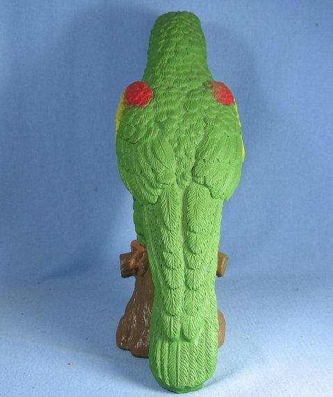 Large Green Tropical  BIRD Parrot Figurine - Vintage Pottery