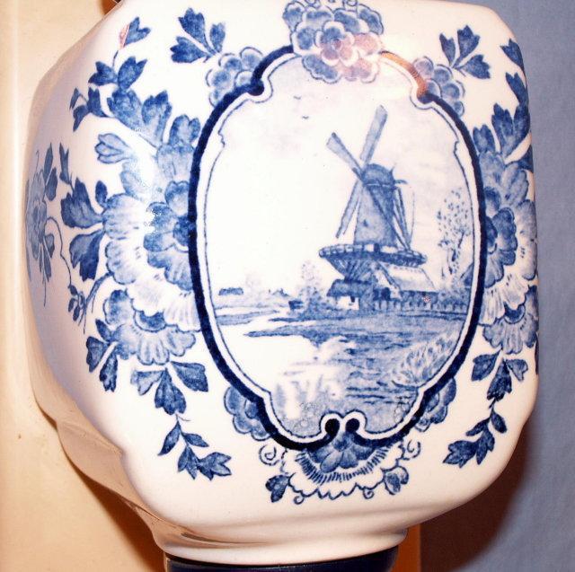 Dutch Made DELFT Porcelain Coffee Grinder