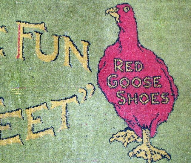 RED GOOSE SHOES Advertising Floor Rug