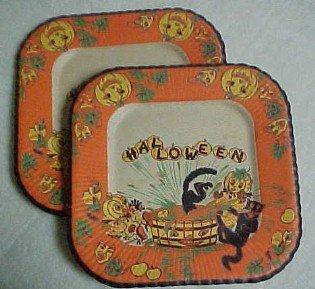 1950's Halloween Napkins and Plates - Paper
