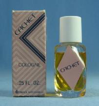 CACHET Mini Cologne    - Vintage Miniature PERFUME Bottle with Original Box
