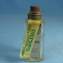 CARVEN Parfum Glass Dobber- Paris France Bottle  -   Vintage Miniature Perfume Parfum Bottle