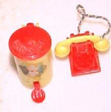 Dollhouse Garbage Tin + Telephone - Toys