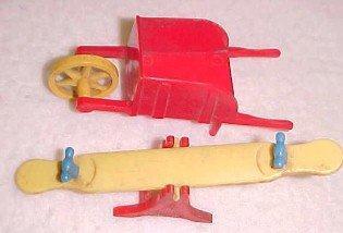 Renwal See Saw + Wheelborrow - Toys