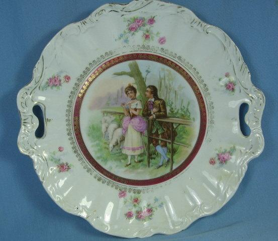 Porcelain Pierced Handle TORTE Plate