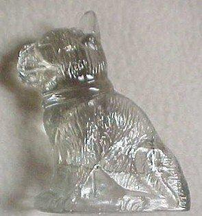 Bulldog Candy Container - Glass