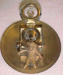 Boy Figural Inkwell Ink Well - Metalware