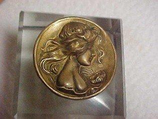 Cherub Cupid Figural Inkwell - Metalware