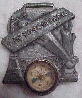 Lindbergh New York to Paris Fob - Metalware