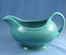 Fiesta Pottery GRAVY Pitcher Porcelain - Turquoise Blue Color