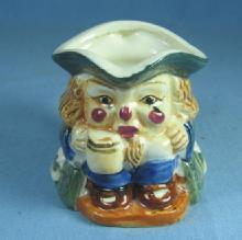 Vintage Pottery Sitting TOBY Jug Pitcher Man Holding ALE Mug