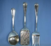 Gorham Heritage 3pc SERVING Flatware Fork/Spoon Lasagna
